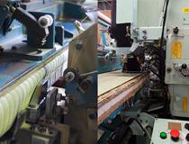畳を縫っている機械の一部です。機械といってもボタン一つで全て動く訳ではなく、機械一つ一つに癖があり、職人の経験やノウハウによって初めて、効率良く動くものです。稼働中は一寸も油断はできません。職業病なのか職人達は機械の音で機械の調子を瞬時に判断します。